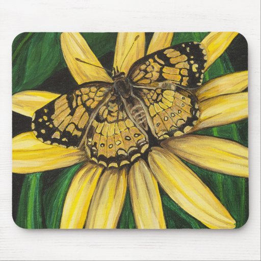 Golden Butterfly Mousepad