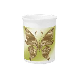 Golden butterfly pitcher