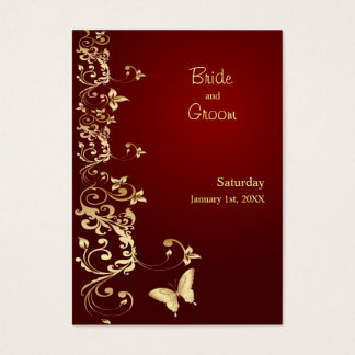Golden Butterfly Save the Date for Weddings Business Card