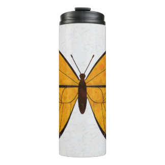 Golden Butterfly Thermal Tumbler