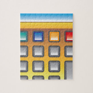 Golden Calculator Vector Jigsaw Puzzle