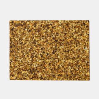 Golden Camouflage Doormat