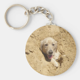 Golden Camouflage Key Ring