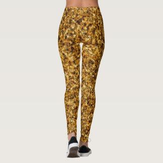 Golden Camouflage Leggings