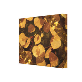 GOLDEN Canadian Fall Season  : Navin Signa  Style Gallery Wrapped Canvas