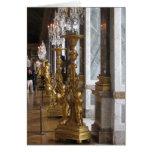 Golden Candelabras, Chateau de Versailles Note Card