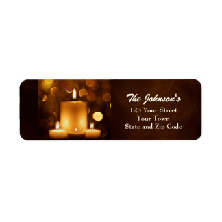 Golden Candles Return Address Labels