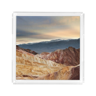 Golden Canyon at Sunset Acrylic Tray