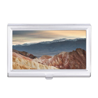 Golden Canyon at Sunset Business Card Holder