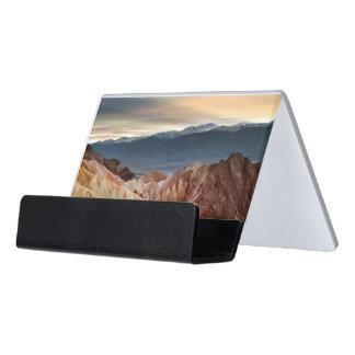 Golden Canyon at Sunset Desk Business Card Holder