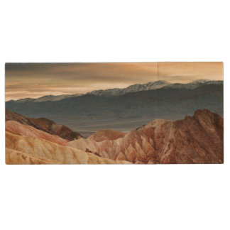 Golden Canyon at Sunset Wood USB 2.0 Flash Drive