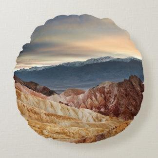 Golden Canyon at Sunset Round Cushion
