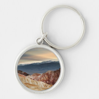Golden Canyon at Sunset Silver-Colored Round Key Ring