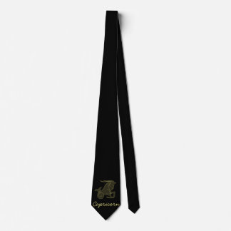 Golden Capricorn Tie