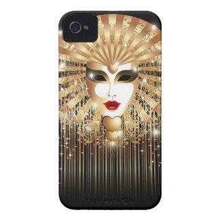 Golden Carnival Party Mask BlackBerry Case