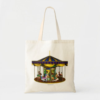 Golden Carousel Tote Bag