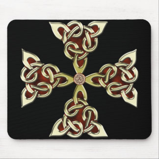 Golden Celtic Cross Mousepad