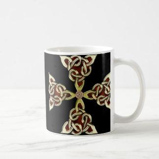 Golden Celtic Cross Mug