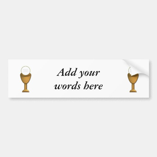 Golden Chalice and Host - Holy Communion Bumper