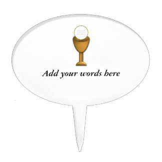 Golden Chalice and Host - Holy Communion Cake Toppers
