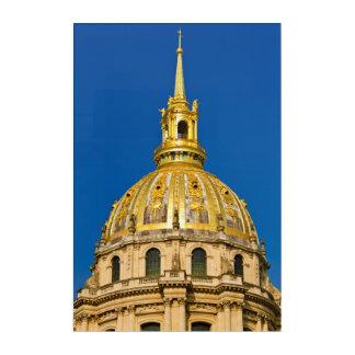 Golden Chapel Dome, Paris, France Acrylic Print