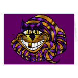 Golden Cheshire Cat Blank Card