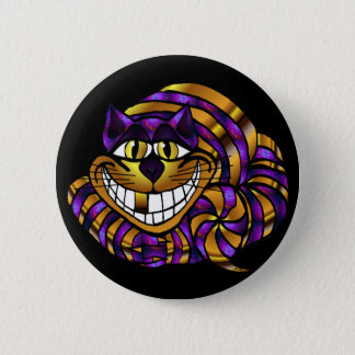 Golden Cheshire Cat Button