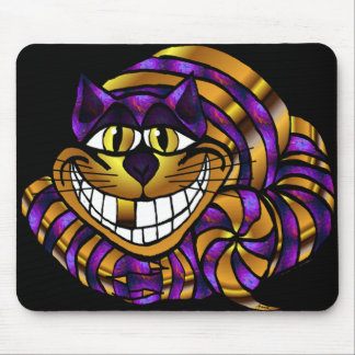 Golden Cheshire Cat Mousepad