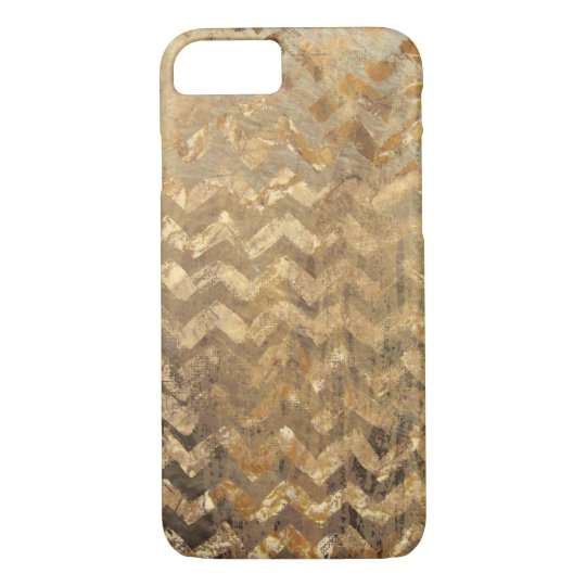 Golden Chevron Phone Case