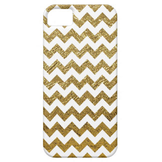 golden chevron stripes pattern iPhone 5 cases