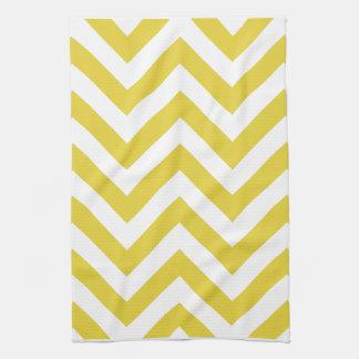 golden chevrons  zigzag pattern tea towel