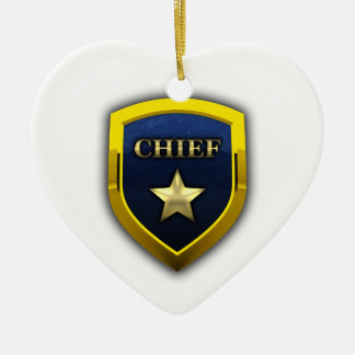 Golden Chief Badge Christmas Ornament