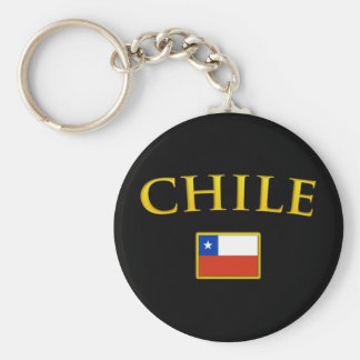 Golden Chile Basic Round Button Key Ring