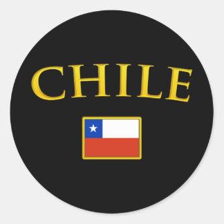Golden Chile Classic Round Sticker