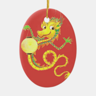 Golden Chinese Dragon Ornament