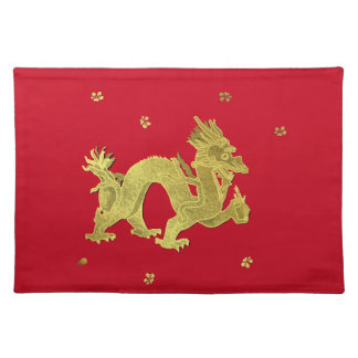 Golden Chinese Dragon Placemat