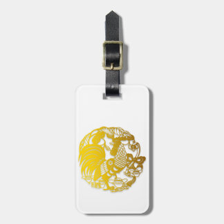 Golden Chinese New Year of Rooster 2017 Luggage T Luggage Tag