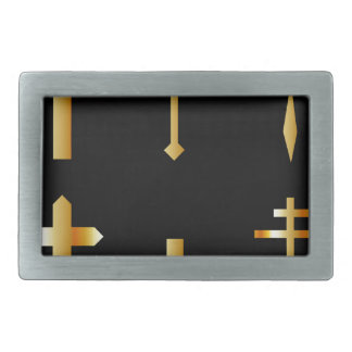 golden christian crosses in different designs belt buckle