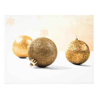 Golden christmas baubles 21.5 cm x 28 cm flyer