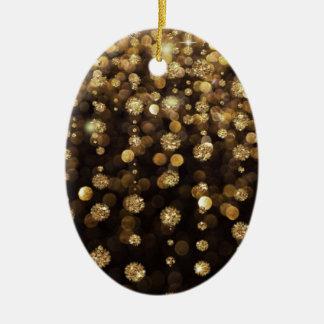 Golden Christmas Glitter Sparkles Christmas Ornament