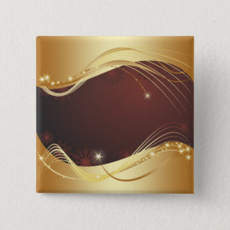 Golden Christmas motive with red background... 15 Cm Square Badge