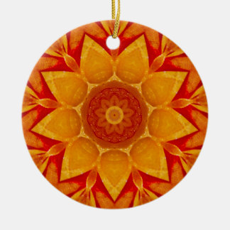 Golden Christmas Rain Fractal Christmas Ornament