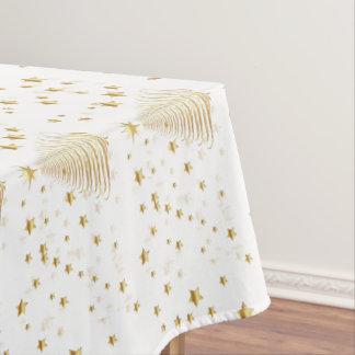 "Golden Christmas Set - Cotton Tablecloth, 52""x70"" Tablecloth"