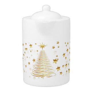 Golden Christmas Set - Teapot