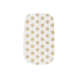 Golden Christmas Star Nail Wraps