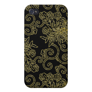Golden Chrysantemums Cover For iPhone 4