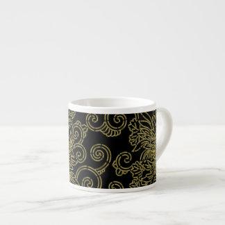 Golden chrysanthemum espresso cup