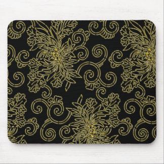 Golden chrysanthemum mouse mat