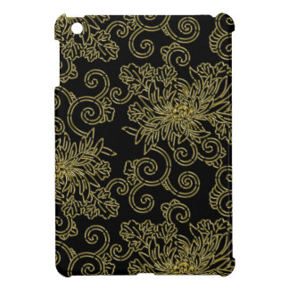 Golden chrysanthemums gorgeous japanese pattern case for the iPad mini