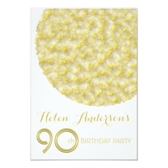 Golden Circle 90th Birthday Party Invitation